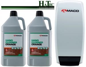 Maco Handwaschpaste Starterpack Orange 2x 4-Ltr. + 1 Spender