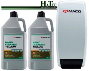 Maco Handwaschpaste Starterpack Yellow 2x 4-Ltr. + 1 Spender